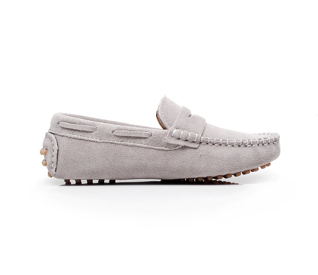 1153fc8caec Shenn Boys Cute Slip-On Suede Leather Loafers Shoes S8884
