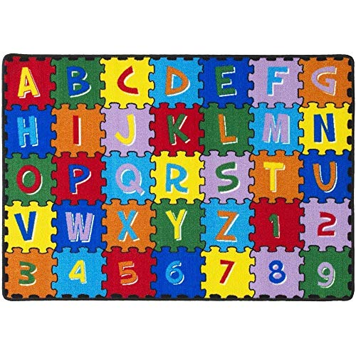Mybecca Large Classroom Rugs Kids Alphabet Puzzle Area Rug 8