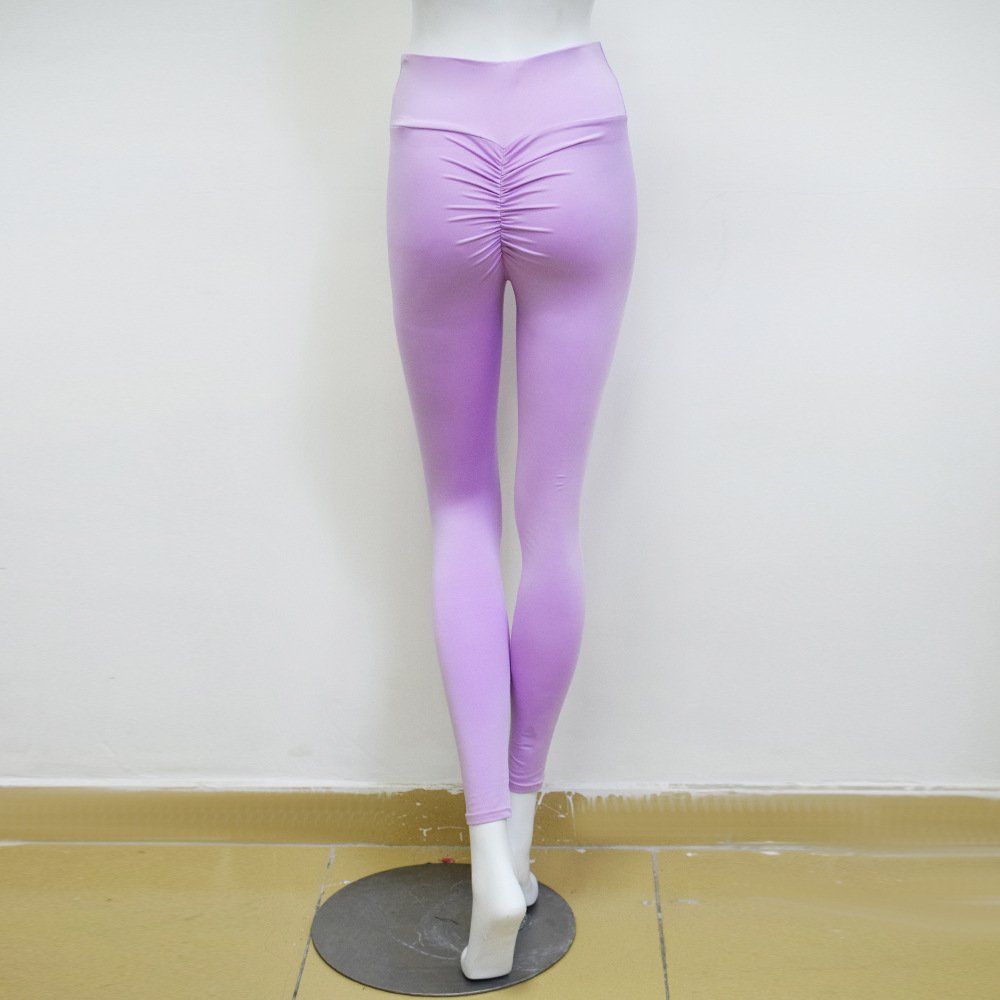 Xuanytp Yogahosen Leggings Hosen Frau Push-Bein Hosen Weibliche Stretch-Dünne Hosen Damen Fitness Hohe Taille Leggings Hosen Größe