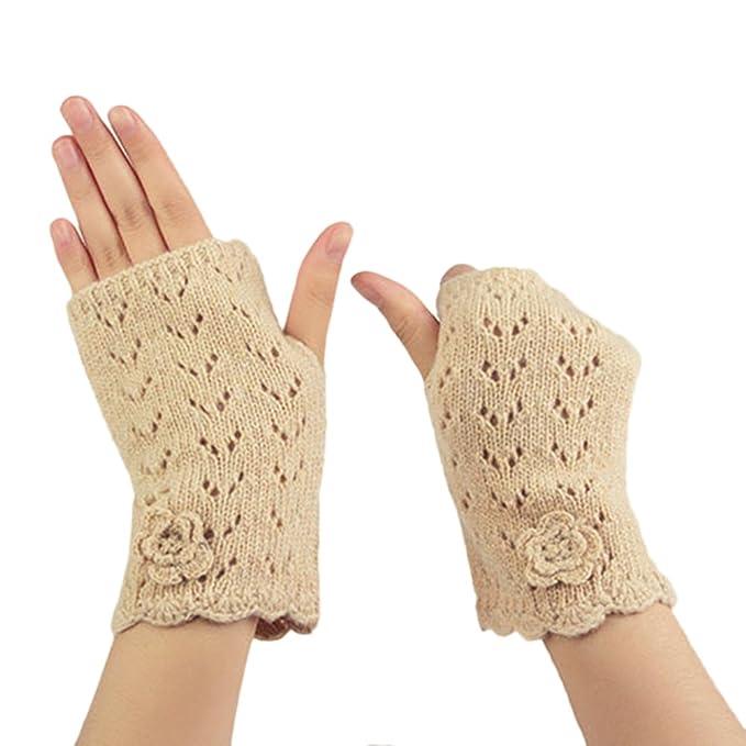 Damen-accessoires Warm Knit Finger Arm Wramers Damen Herbst Winter Gestrickte Halbe Finger Manschette Handschuhe Frauen Winter Lange Handschuhe