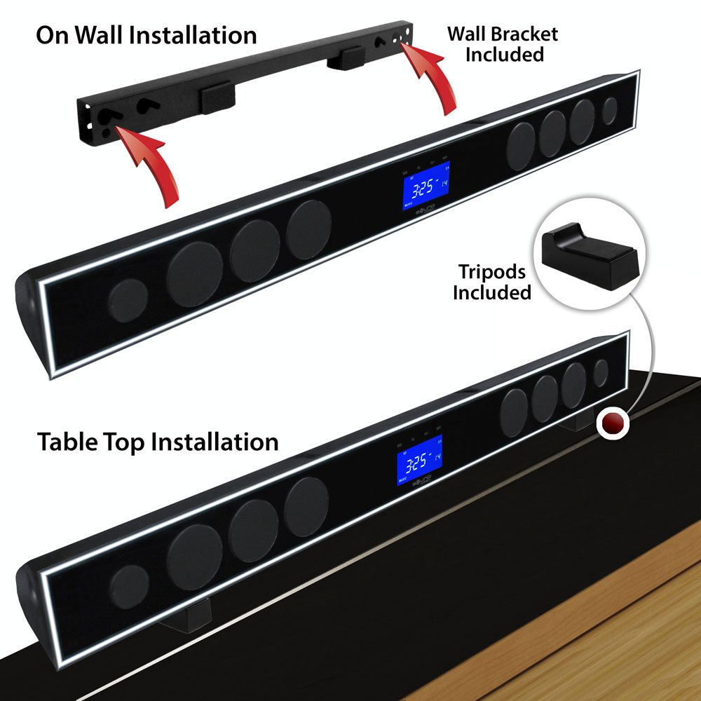 2.1 Soundbar w 8.0'' wireless subwoofer and MAXBASS chip by Sound Appeal