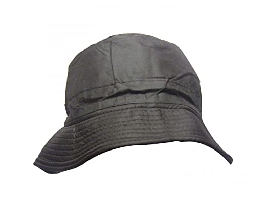 VIZ-UK WEAR Plain Black Waterproof Bucket Hat  Amazon.co.uk  Shoes ... 641ec235df6