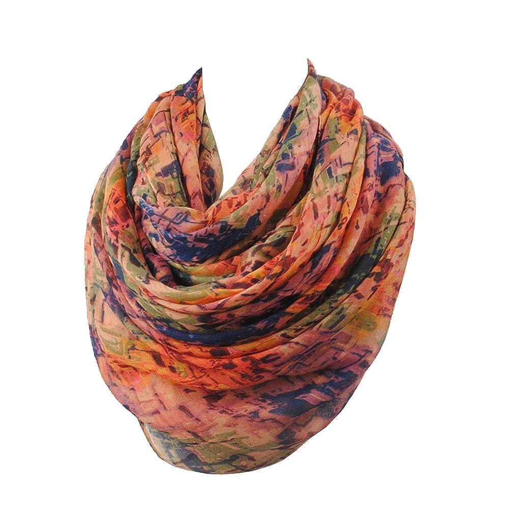 Navybluee Sibalasi Mixed color Cotton Voile Scarf Shawl Scarves Beachwear Wrap