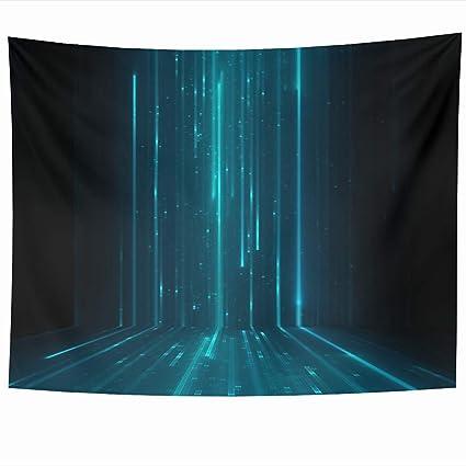Brilliant Amazon Com Ahawoso Tapestry 60 X 50 Inches Grid Blue Download Free Architecture Designs Scobabritishbridgeorg