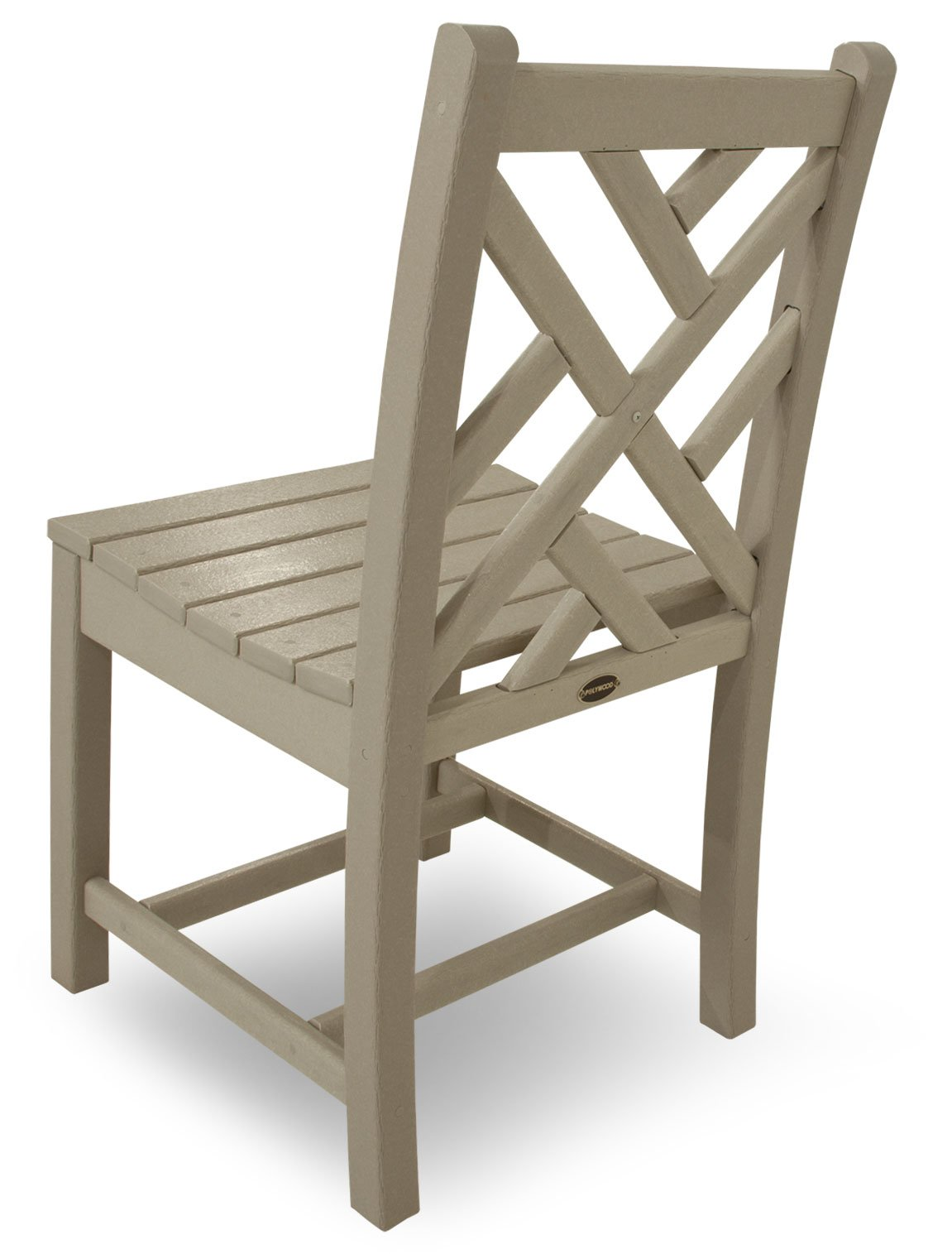 POLYWOOD CDD100SA Chippendale Dining Side Chair, Sand - Pair this elegant Chippendale dining side chair with one of the POLYWOOD traditional dining table;  is made with fade-resistant POLYWOOD recycled lumber POLYWOOD recycled HDPE lumber has the look of painted wood without the upkeep real wood requires; requires no painting, staining, or waterproofing Heavy-duty construction withstands nature's elements; will not splinter, crack, chip, peel or rot and is resistant to stains, insects, fungi, and salt spray - patio-furniture, patio-chairs, patio - 61xsumLxycL -