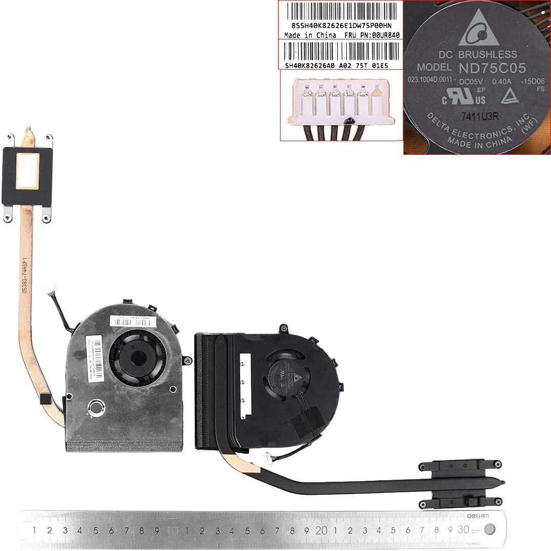 Laptop CPU Cooling Fan for Lenovo Thinkpad T550 T560 W550S P50S (Integrated Graphics,Heatsink)