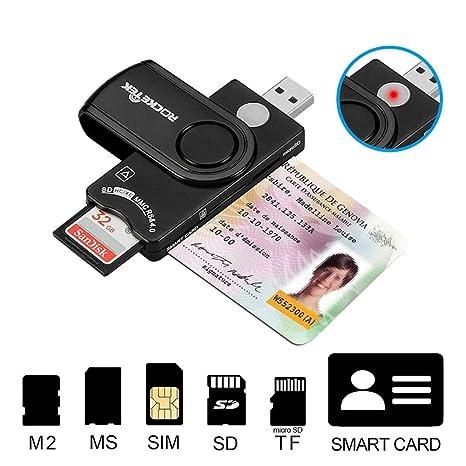 DZSF USB 2.0 Lector de Tarjetas de teléfono Tarjeta de Memoria del ...