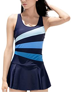 7044d03131b28 Women s One Piece Swimming Suit Slimming Bathing Suit Tummy Control Swim  Dress