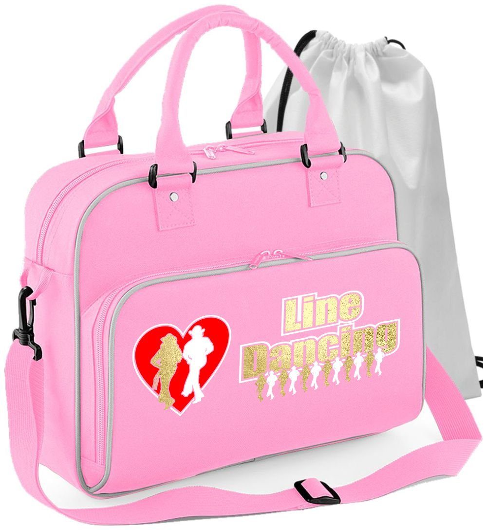 MusicaliTee Line Dancer - Line Dancing Heart - DANCE Bag & Drawstring Shoe Backpack Line4_LDHeart_2_BkPk_Bag_MG