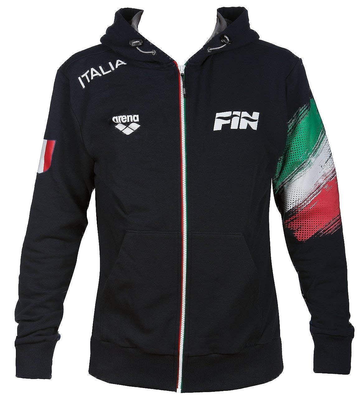 Felpa Unisex Adulto Arena Italy Hooded XS Navy//Royal Fin