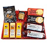 Deluxe Men's Gourmet Gift Basket- features Smoked Summer Sausages, 100% Wisconsin Cheeses, Crackers, Pretzels & Mustard | Great for Parties!