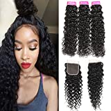 Best Hair Bundles With Free Parts - 8A Grade Peruvian Water wave With Closure 3 Review