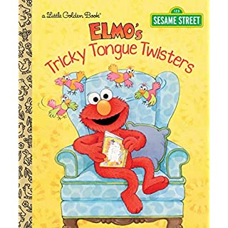 Elmo's Tricky Tongue Twisters (Sesame Street) (Little Golden Book)