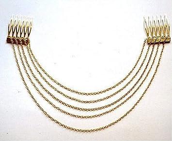 Details about  /Women Golden Chain Headband Thin Hair Hoops Elegant Hairbands Hair Accessories