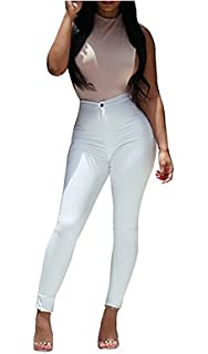 Carolilly Leggings Pantalon Collant Femme Taille Haute Sexy-Chic Automne  Hiver d94515db58f