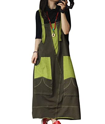 61447a92322dfd Image Unavailable. Image not available for. Color  YESNO YH9 Women Long Maxi  Sleeveless Sweatshirt Dress Casual Overalls Dress Contrast ...