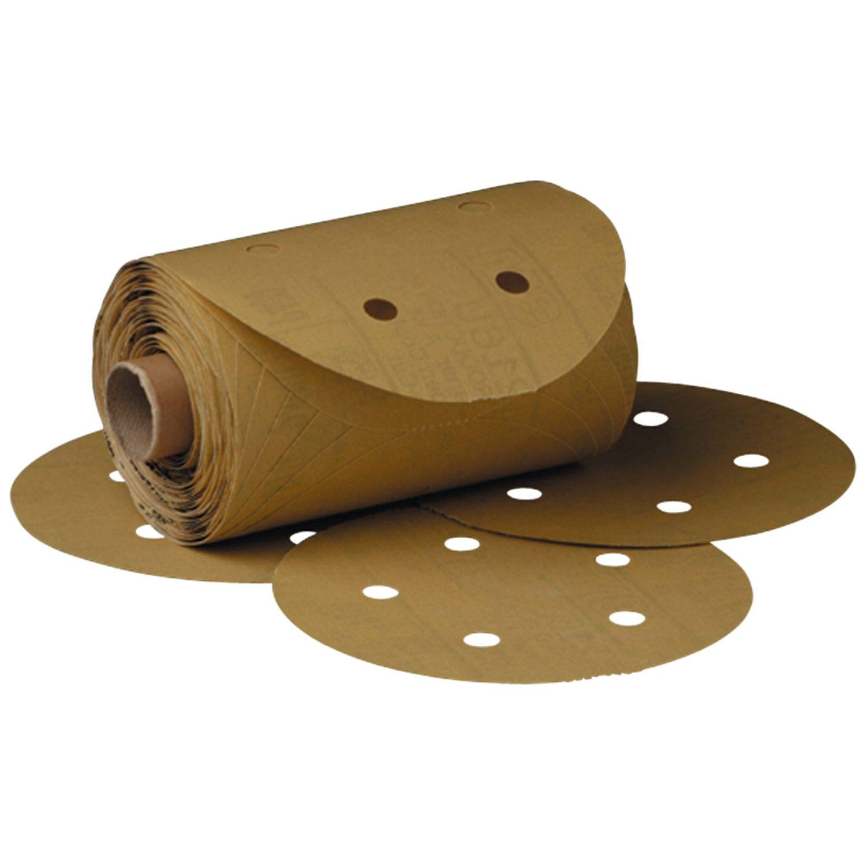 5 Diameter Aluminum Oxide 3M Stikit Gold Paper D//F Disc Roll 216U PSA Attachment P180 Grit Roll of 175 5 Diameter