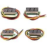Dolity デジタル電圧計 4個入り 電圧テスター 3線式 DC 0-100V 高精度 安定性 お買い得