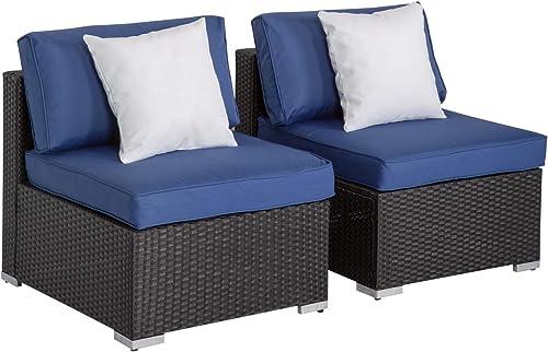Peach Tree Outdoor Loveseat 2 PCs Patio Furniture Set