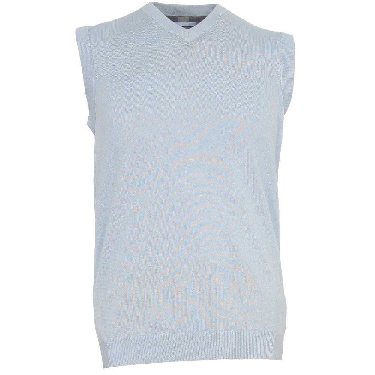 Ashworth Men's Solid Pima Sweater Vest (Small, Skyway)