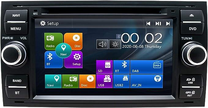 Swtnvin Autoradio Passend Für Ford Focus Fusion Transit Fiesta Galaxy In Dash 7 Zoll Gps Navigator Doppel Din Haupteinheit Unterstützt Usb Sd Fm Am Rds Video Bluetooth Swc Dvd Player Schwarz06 Amazon De