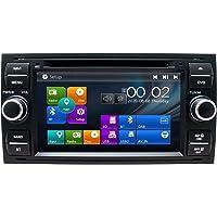 SWTNVIN Radio estéreo para Coche Compatible con Ford Focus Fusion Transit Fiesta Galaxy 7 Pulgadas GPS Navigator Doble…