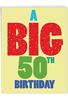 Big 50th Birthday Greeting Card With Envelope 85 X 11 Inch