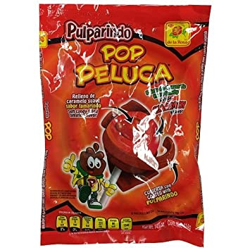 Wholesale Pulparindo Pop Peluca Chamoy 18ct 14.6oz