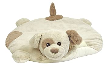 Bearington Baby Patches Belly Blanket Giraffe Plush Stuffed Animal Tummy Time Play Mat