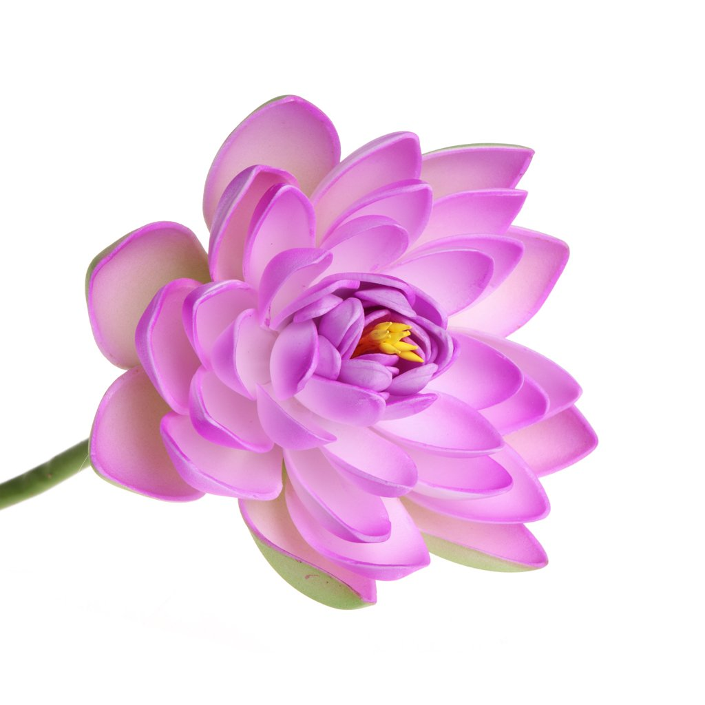Jiamins Artificial Fake Flower Lotus Water Lily With Rod Plants