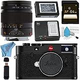 Leica M10 Digital Rangefinder Camera (Black) 75mm f/2.5 SUMMARIT-M, Manual Focus + 64GB SDXC Card + Card Reader + Deluxe Cleaning Kit + MicroFiber Cloth Bundle
