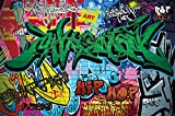 GREAT ART Wall Mural Street Style - Ghetto Decoration Graffiti Art Writing Pop Letters Poster Painting Urban Abstract Comic (82.7x55 Inch)