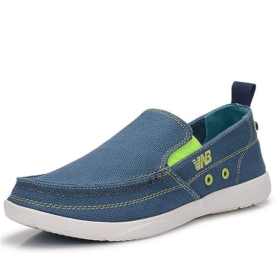 Zapatillas sin Cordones Transpirables para Hombre para Yates Zapatillas con Suela Blanda en Alpargatas duraderas (Color : Marrón, tamaño : EU 43): ...