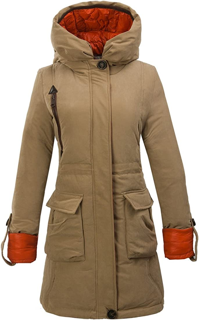 Cromoncent Womens Winter Hooded Drawstring Plush Puffy Thicken Pullover Sweatshirts