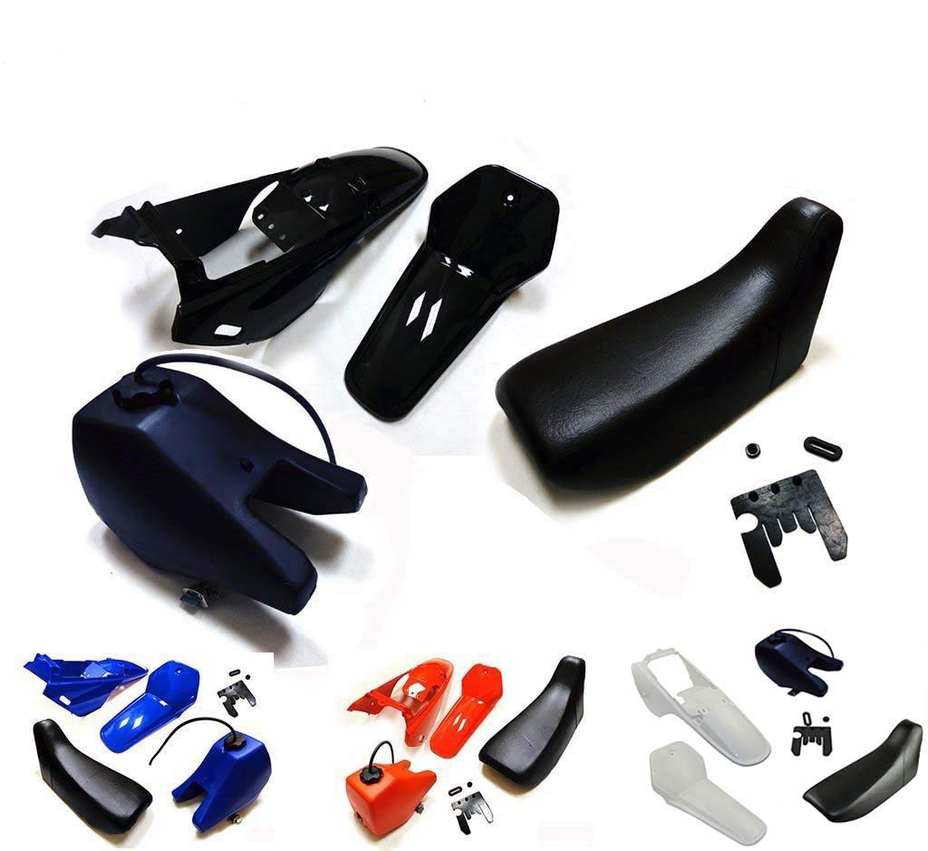 Black Plastic Fender Body Seat Gas Tank Kit for Yamaha PW80 PEEWEE PW 80