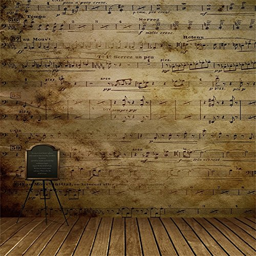 Laeacco Vinyl Thin Backdrop 10x10ft Photography Background Music