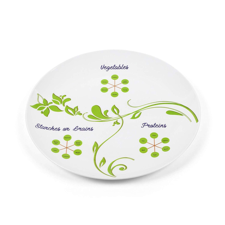 The Diet Kit de 3 assiettes minceur pour contr/ôle des portions de lierre