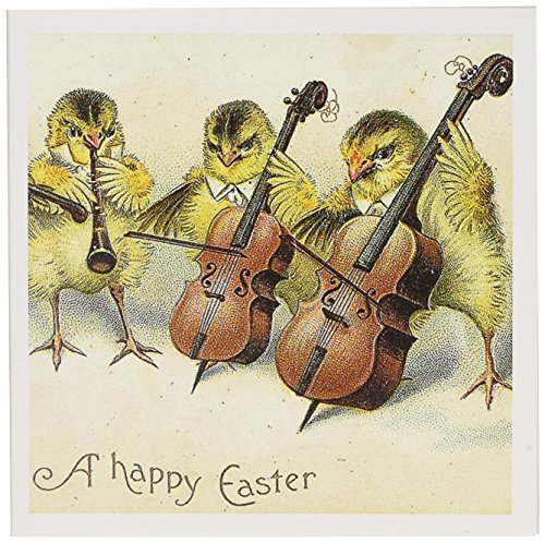 3dRose Easter Chicks - Greeting Cards, 6 x 6 inches, set of 12 (gc_10878_2) ()