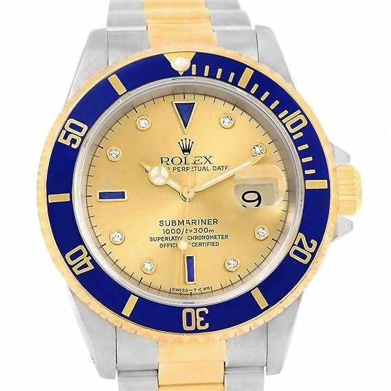 Rolex Submariner 16613 - Reloj automático para hombre (certificado de presencia)