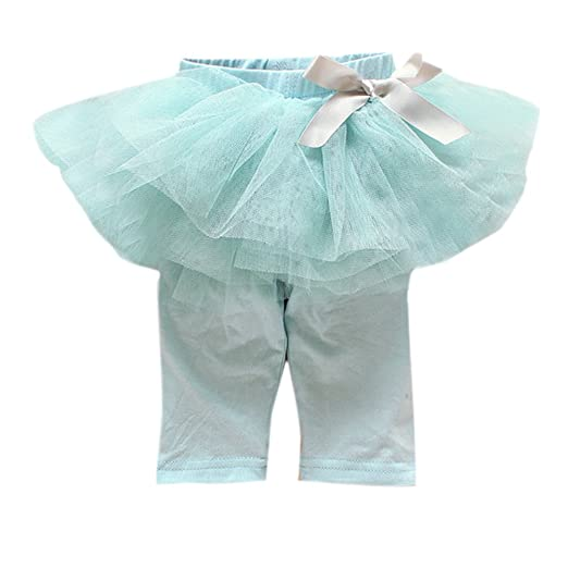c15d8ef906817 Image Unavailable. Image not available for. Color: ESHOO Baby Girls Fake  Two-Piece Lace Culottes Leggings Tulle Pants Bow Tutu Dress