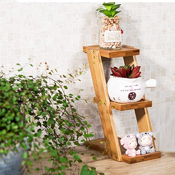 chishizhenxiang Plant Flower Stand Decorativo Pequeño Comodidad 3 ...