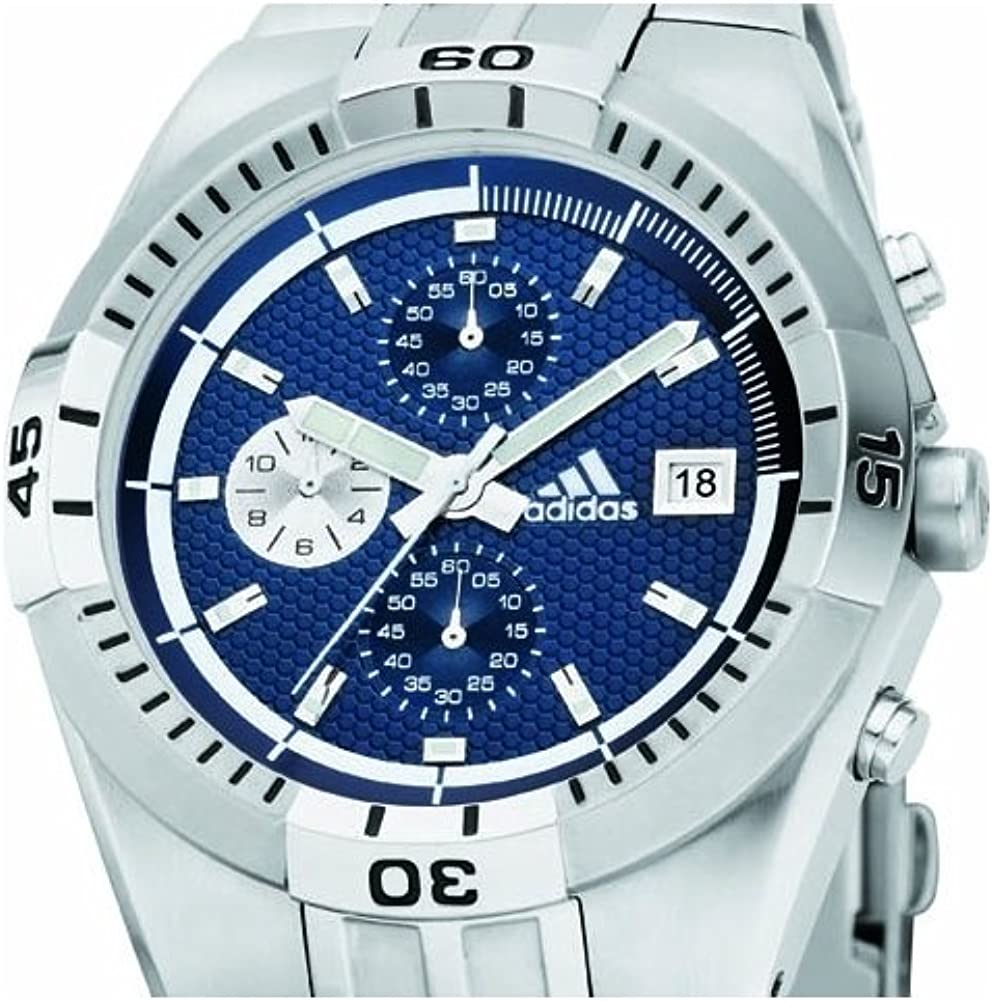 Adidas Adp1801 pour Homme Cadran Bleu chronographe, boîtier