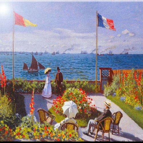 rikki knight rk-6intilec-348815.2x 15.2cm Claude Monet Art jardín en Sainte Adresse diseño cerámica azulejo de arte