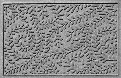 Bungalow Flooring Waterhog Doormat, 2' x 3', Skid Resistant, Easy to Clean, Catches Water and Debris, Boxwood Collection, Medium Grey by Bungalow Flooring