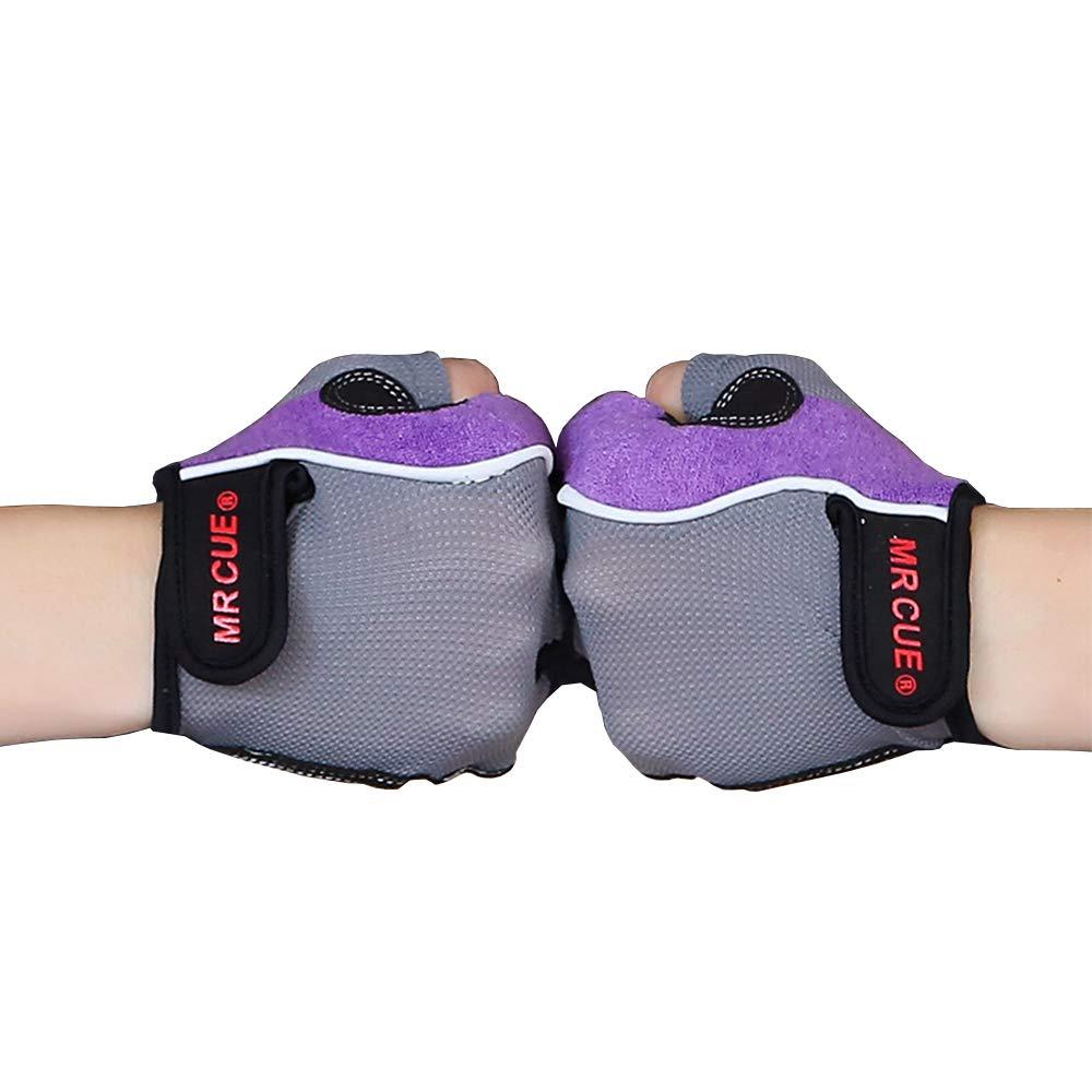 Homelex レディース トレーニング用ジムグローブ ピンク 通気性 ウェイトリフティング 滑り止め B07GZHTBX5 X-Large|パープル パープル X-Large