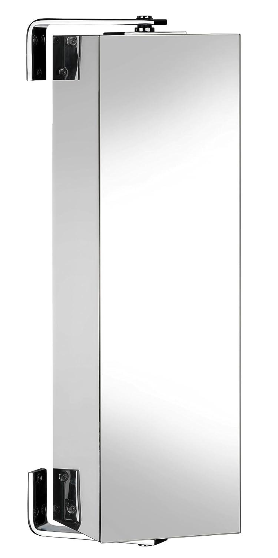 Bathroom cabinets ottawa - Habitat Alvy Small Wall Mounted Bathroom Storage Cabinet Spinning Unit With Mirror 60cm X 18cm X 24cm Modern Narrow Compact Heavy Duty Stainless Steel