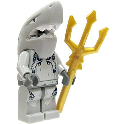 LEGO Minifigure - Atlantis - SHARK WARRIOR with Trident: Toys & Games