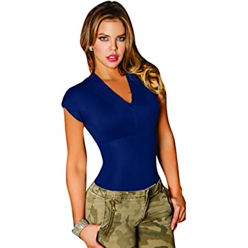Aranza Blusa Faja Colombiana de Mujer Slimming Body Shaper Blouse Bodysuit Compression Blue