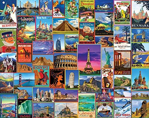 White Mountain Puzzles Best Places In The World - 1000 Piece Jigsaw Puzzle