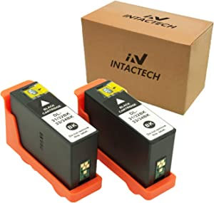 Intactech 2 Pack Comapatible with Dell V525w V725w Black Ink Cartridges Replacement for Dell Series 31 32 33 34 Black Ink Cartridges Work for Dell V525w V725w Printer